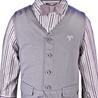 Boys Grey Partywear 3 Piece Set with Bow