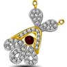 Rakhi Gifts to India, Ruby and Diamond Two Tone Pendant