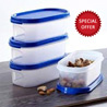 Tupperware MM Oval Containers - Set of 4 + Free 1 piece Tupperware MM Oval