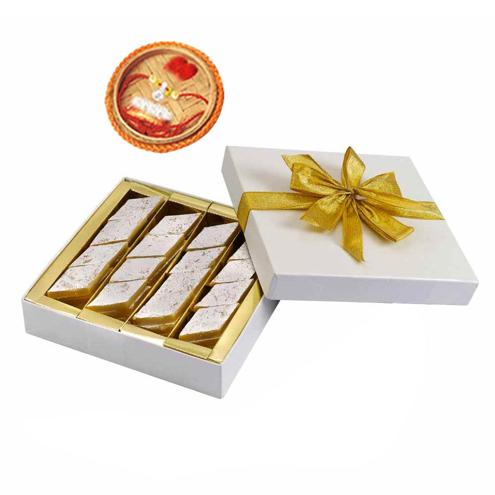 Rakhi Gifts to India, Kaju katli & Rakhi