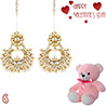 Charming Chandelier Earrings with Free Teddy & Valentine's Card.